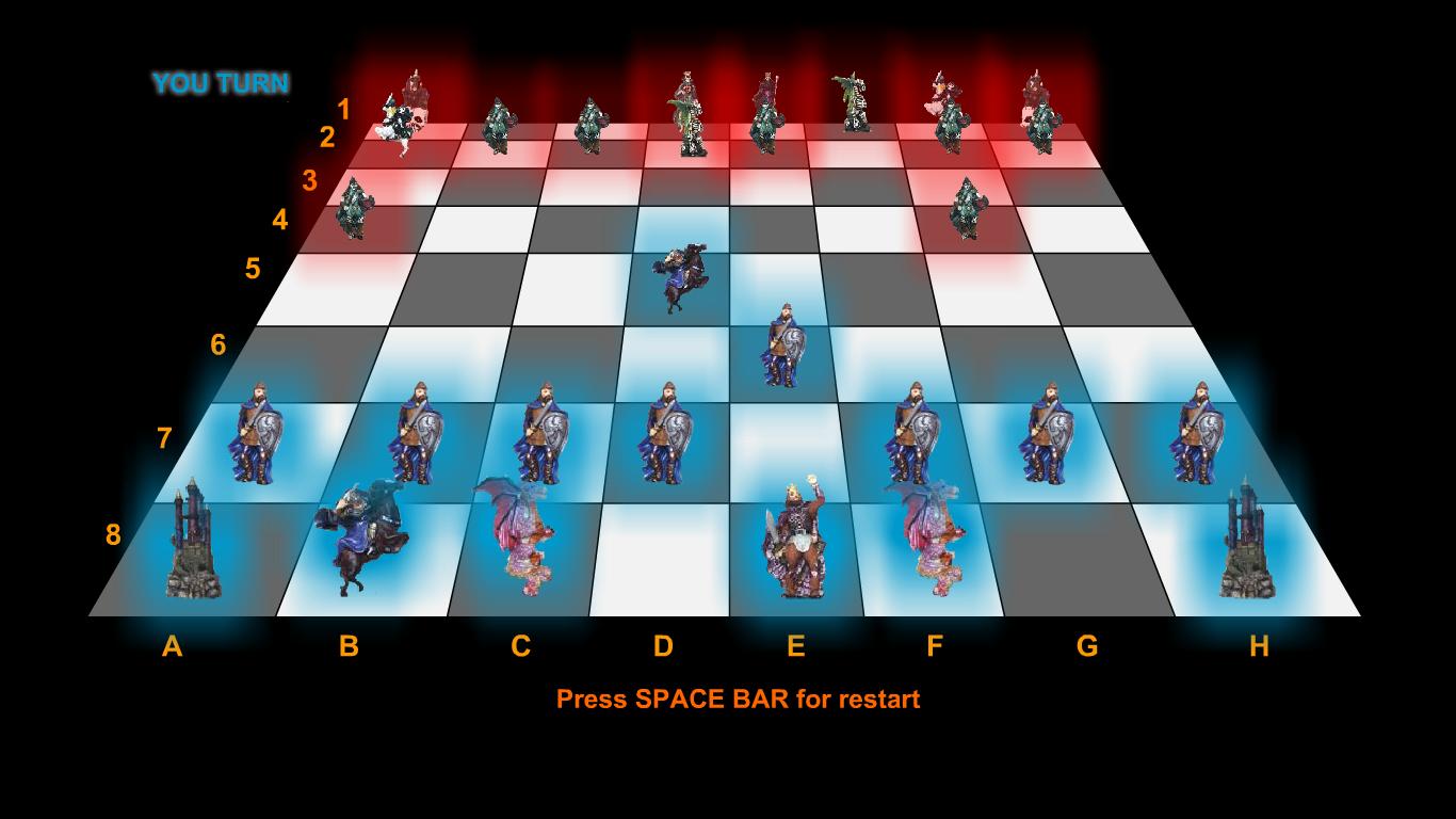 Шахматы онлайн Fantasy Chess